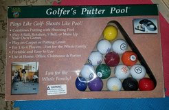 Golfer's putter pool game in Naperville, Illinois