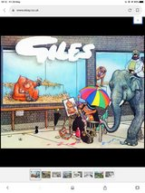 Giles cartoon book collectors in Lakenheath, UK