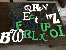 Wooden letters in Plainfield, Illinois