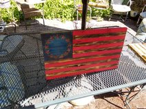 *ONE LEFT* 13 star Rustic painted Patriot Flag in Morris, Illinois