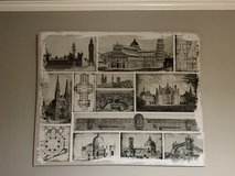 48 x 60 inch wall art European Architecture in Baytown, Texas