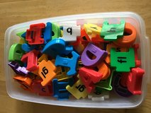 Magnetic letters and blends in Joliet, Illinois