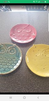 3 rustic owl plates in Schaumburg, Illinois