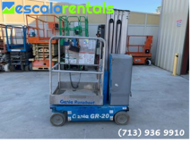 20 Ft Mast Lift for Rent in Houston, Texas