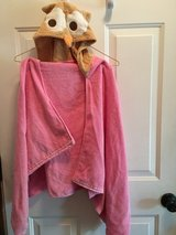Pink owl bath robe (size 3T) in Naperville, Illinois