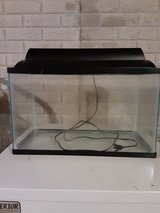 10 gal aquarium tank with lighted hood in Yorkville, Illinois