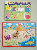 Melissa and Doug Winnie the Pooh Wooden Sound Puzzle/Dinosaur Board Puzzle in Clarksville, Tennessee