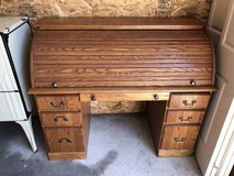 Hand made solid oak roll top desk in Tacoma, Washington