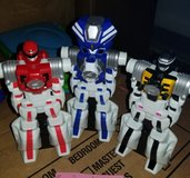 3 x Bandai Power Rangers Operation Overdrive  Red, Black and Blue in Ramstein, Germany