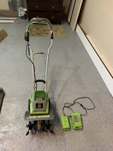 Earthwise 11 inch tiller/cultivator 40 V Cordless in Plainfield, Illinois