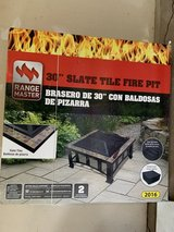 """New 30"""" Slate Tile Fire Pit in Plainfield, Illinois"""