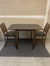 Drop-leaf Pub Height Dining Table with 2 Chairs in Camp Pendleton, California