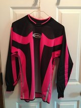 Pink/black youth goalie jersey in Naperville, Illinois