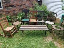 Lot of antique Chairs & Bench in Fort Knox, Kentucky