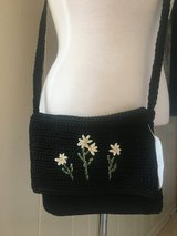 New! Cute Crocheted Purse Crossbody Bag with Flowers Accents in Chicago, Illinois