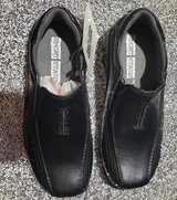 Boys size 1 Black Leather Dress Shoes 1M in Fort Campbell, Kentucky