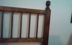 FULL size HEAD BOARD with BED FRAME in Naperville, Illinois