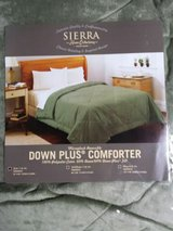 Néw Sierra MICROPLUSH Reversible Down Plus Comforter Twin Size New in Lackland AFB, Texas