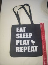 "Brand New with Tag - French Bull Dog Tote Bag ""Eat, Sleep, Play, Repeat"" in Travis AFB, California"
