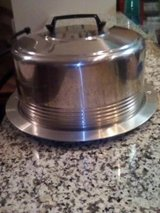 vintage aluminum covered cake plate/carrier in Naperville, Illinois