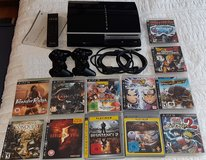 PlayStaion 3, 12 games, 2 controllers in Stuttgart, GE