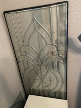 Leaded Glass Door Insert in Kingwood, Texas