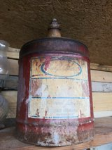 Old Gulf Coast Lubricants 5 gal container in Houston, Texas