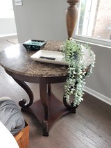 Marble end table in Plainfield, Illinois
