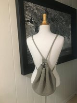 Like new! Taupe Crocheted Backpack Purse in Naperville, Illinois