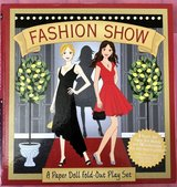 Fashion Show Paper Doll Fold-Out Play Set in Okinawa, Japan