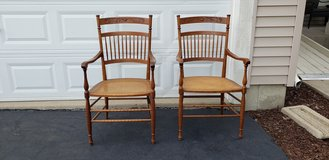 Pair of wooden chairs in Chicago, Illinois