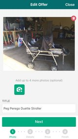 Peg Perego Duette (Double) Stroller in Bartlett, Illinois