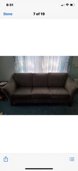 sofa, chair & ottoman with pillows in Naperville, Illinois