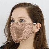 New Rose Gold Sequin Face Masks - 5 Available in Aurora, Illinois