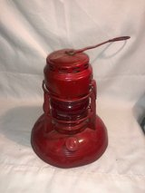 No. 40 Traffic Guard/ Railroad Lantern with Original Red Glass Lamp (item#33) in Cleveland, Texas