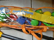 NEW Kids Foam Croquet Set with Carry Case in Morris, Illinois