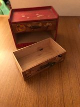 Vintage OKI made 2 Draw wooden box in Okinawa, Japan