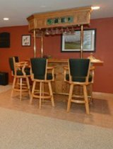 basement bar and 4 stools Oak Wood in Naperville, Illinois