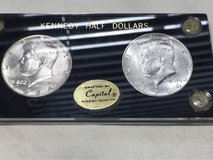 Coins 1964/1964-D Kennedy Silver Half Dollars uncirculated condition in hard plastic holder in Beaufort, South Carolina