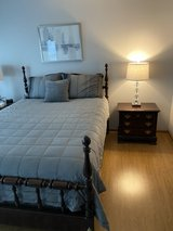 Queen Bed and Nightstand in Naperville, Illinois