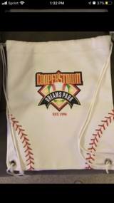 Cooperstown Dreams Park New White leather Cinch Bag in Naperville, Illinois