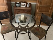 Glass top table and 2 chairs in Naperville, Illinois