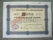 1923 German Stock Certificate: in Wiesbaden, GE