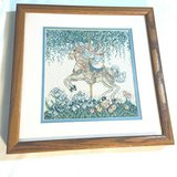 """Carousel Horse 12 x 12"""" Finished Cross Stitch Piece Framed Picture #2 in Fort Campbell, Kentucky"""