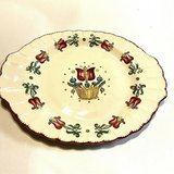"American Limoges OLD DUTCH 13.75"" x 11"" Oval Platter, Dark Red Tulips, c. 1940s in Fort Campbell, Kentucky"