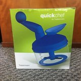 Never Used! Tupperware QuickChef Manual Food Processor - Blue in Naperville, Illinois