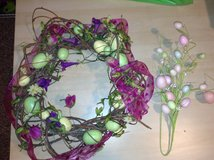 Springtime Wreath and Eggs in Naperville, Illinois