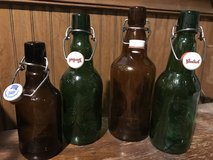 Various size glass bottles for home brewing (qty 28) in Plainfield, Illinois