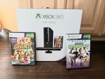 XBox 360 4GB w/Kinect AV connector & 16GB external storage in Travis AFB, California