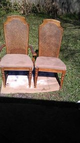 2 cane back dining chairs in Sugar Land, Texas